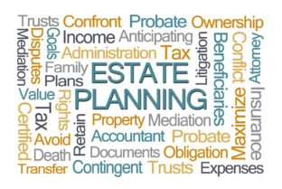 Estate Planning Word Cloud On White Background
